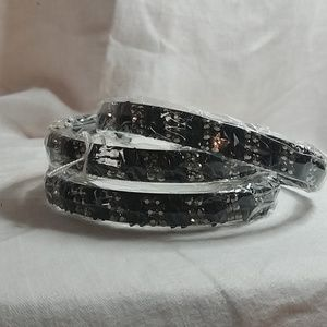 1 Brand New Black & Silver Headband